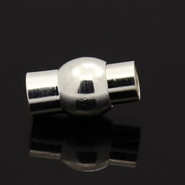 Magneet slotje zilverkleur 9 x 17mm Gat Ø5mm