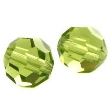 Glaskraal facet olijf groen 12mm