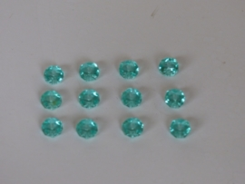 10 stuks Briolette facet kristal art. 195 afmeting: 6 x 4mm rondelle