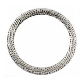 2 x DQ Metalen Boho Ring/Tussenstuk Antiek Zilver 30 mm c.a 30×3 mm