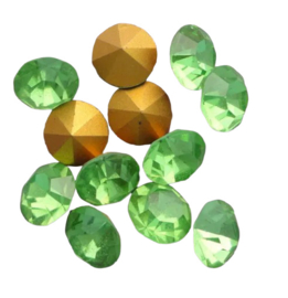 10 x Swarovski puntsteen SS24 Gold Foiled Peridot  5,2mm