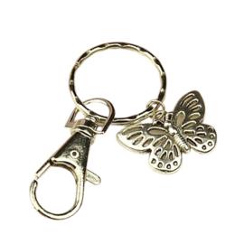 Prachtige sleutelhanger met vlinder 76mm. Vlinder: 17 x 25mm