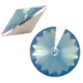 1x BQ quality 1122- Rivoli puntsteen12 mm Blue pacific opal ca. 12 mm (1122)