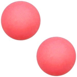 1x Cabochon Polaris Elements matt 7mm Coral pink