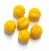 10 Stuks Glaskraal rond ribbel licht oranje 10 mm