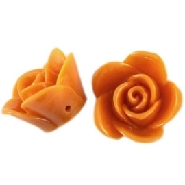 2 x Roosje oranje tangerine 16 mm rijggat 1,5 mm