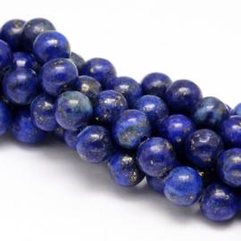 10 x  half edelsteen kraal van 4mm Lapis Lazuli  gat: 1mm