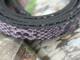 1 meter echt lederen snakeskin lila-paars 10 x 2mm