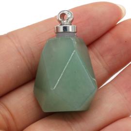 Gedenk hanger mini urn half edelsteen Aventurine