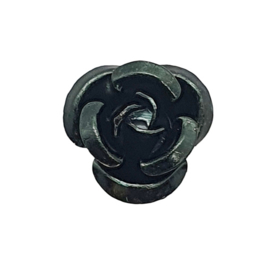 30 stuks aluminium roosjes 10 x 6,5mm gat: 1mm mat zwart-groen