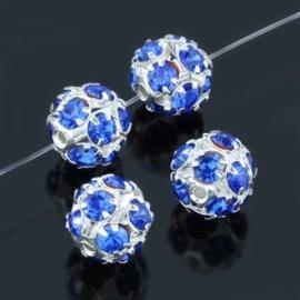 Kristal ballen 10mm blauw