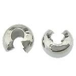 50 stuks Knijpkraal verbergers - beschermers  5mm platinum