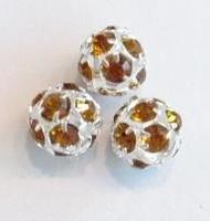 Verzilverde kristal ballen 10mm topaas