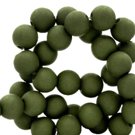 30 x  8 mm acryl kralen Sacramento green