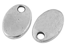 10 stuks blanco tibetaans antiek zilveren bedeltjes 10 x 8 x 1mm Gat: 1,5mm