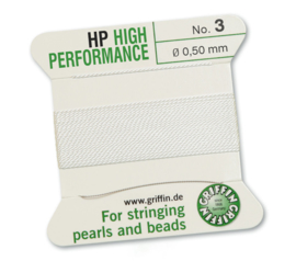 High performance Griffin met naald  No: 3 Ø 0,50mm wit