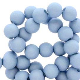 30 x 8 mm acryl kralen Carolina blue