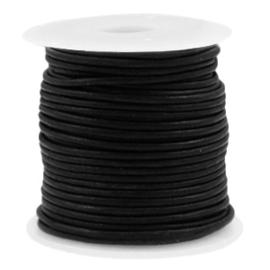 50cm DQ Leer rond 1 mm Vintage black