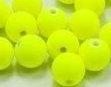15 Stuks acrylkralen 11 mm, gat 1 mm neon geel