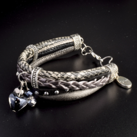 Prachtige armband, verstelbaar met metalen elementen bedel believe