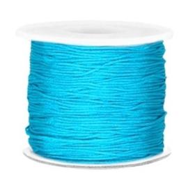 Per 2 meter Macramé draad 0.7mm Aqua blue