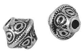 10 stuks Tibetaans zilveren tussenzetsel kraal 7mm x 6mm, zilver, goud of rood koper kleur