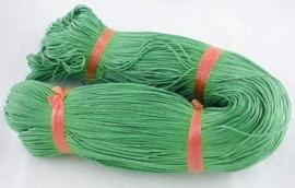 Waxkoord 10 meter 1mm donker- groen(mosgroen) structuur A