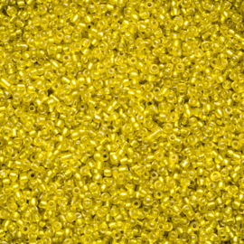 20 gram Rocailles 12/0 2mm   Yellow Transparant Silverlined