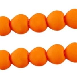 10 stuks Acryl kralen hart 10mm oranje