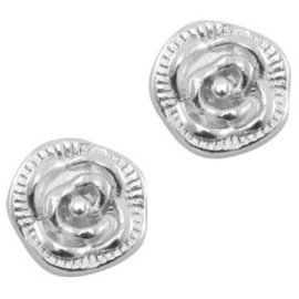 2 x Floating Charms Roos Antiek Zilver 7 mm