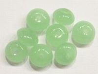10 Stuks Glaskraal rondel jade Licht-groen 8 mm