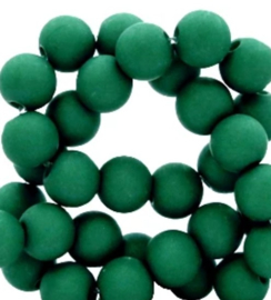 10 stuks Acryl kralen mat rond 12mm dark green