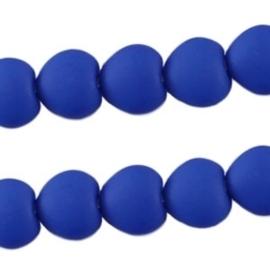 10 stuks Acryl kralen hart 10mm Donker blauw