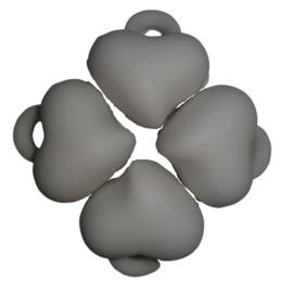 5 x Acryl bedel hart Wit 15 x 15 x 10mm; gat 3mm