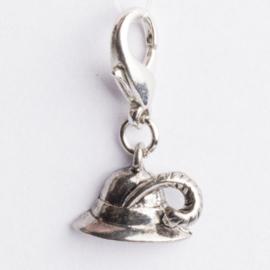 Be Charmed hoedmet karabijnsluiting zilver met een rhodium laag (nikkelvrij)