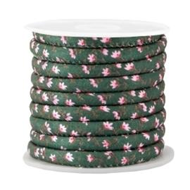 20 cm Trendy gestikt koord 6x4mm Pine green