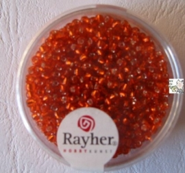Rayher Rocailles Transparant 17 gram 2,6 mm Oranje