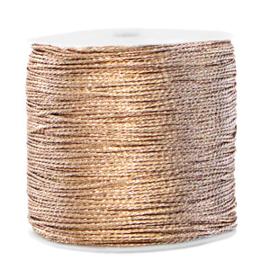 1 rol 90 meter macramé draad metallic 0.5mm Ivory cream taupe (kies voor pakketpost)