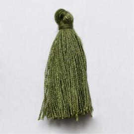 Kwastje mos groen c.a. 3cm