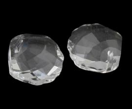 Prachtige kristal facet Hanger 18 x 20 x 8mm gat 1mm schelp