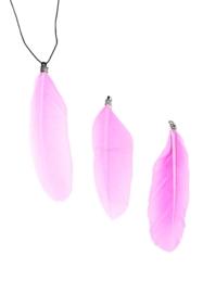 Hangers veer 70-80x12-20mm licht roze