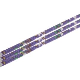 20 cm Trendy gestikt koord 7 x 6mm lila