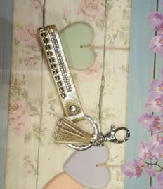 Super leuke sleutelhanger met strass lengte c.a. 15cm