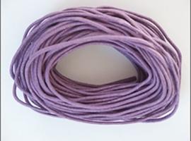 10 meter waxkoord 1,5mm dik kleur: Lila