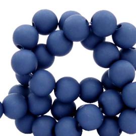 50 x 4 mm acryl kralen matt Midnight blue