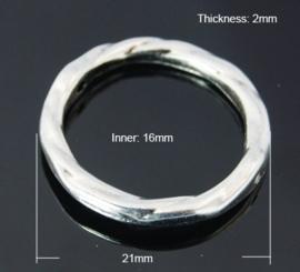 5 stuks gesloten ringen  Ø 21mm buitenzijde Ø 16mm binnenzijde  2mm dik