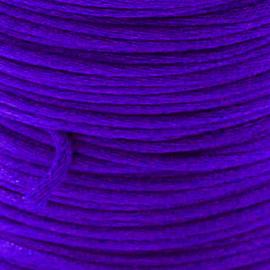 2 meter Macrame Satijndraad 1.0 Violet Blue
