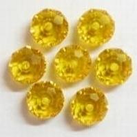 10 stuks Glaskraal facet kristal rondel oranje met mooie glans 8 mm