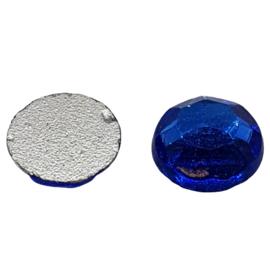 4 x Blauwe swarovski flatback 7 mm