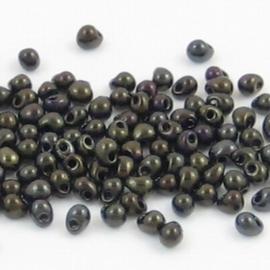 10 gram Miyuki druppels Brown Metallic Iris 3,4mm